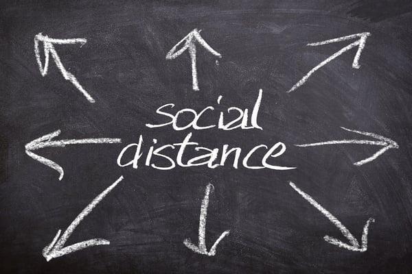 tips social distancing kantoor