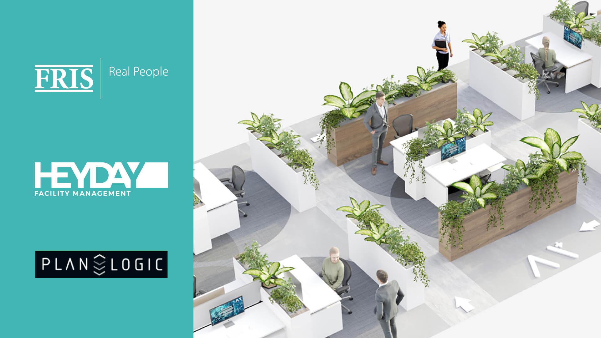 FRIS en HEYDAY lanceren modulaire aanpak voor 1,5-meter kantoor met behulp van kunstmatige intelligentie van PLANALOGIC