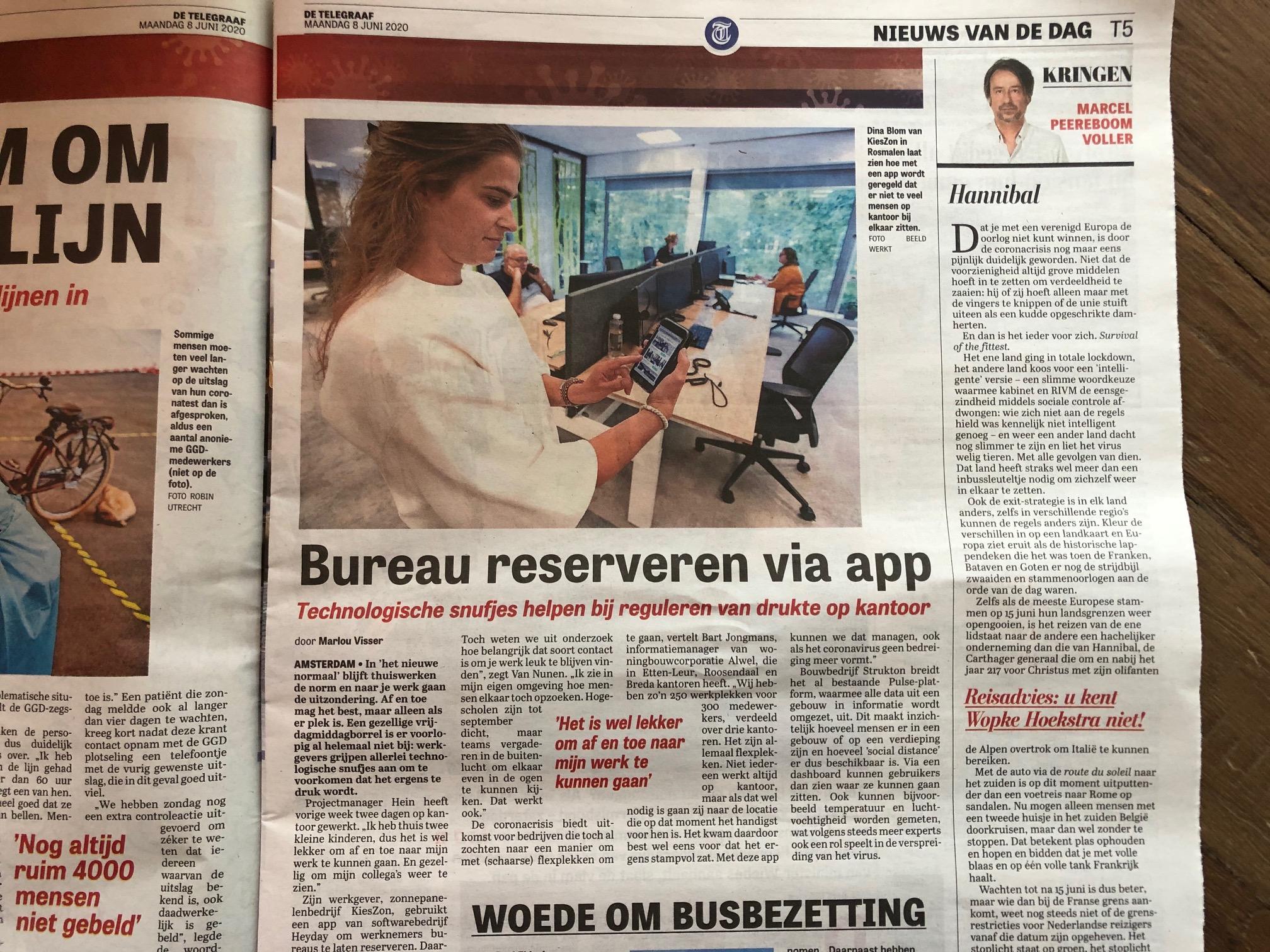 Thuiswerker wil collega's weer zien: 'Bureau reserveren via app'